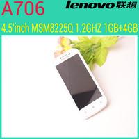 Original Lenovo A706 phone MSM8225Q 1.2GHz Quad Core 3G Phone 1GB RAM 4GB ROM 854*480 IPS Screen Dual Camera 5.0MP Camera