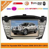 2012 Hyundai  IX35  tucson Car  DVD Player GPS Navigation 3G USB port Bluetooth (DVB-T TV  Option)-with can bus radio