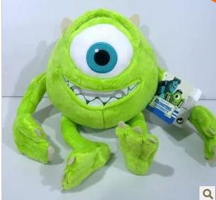 Monsters Inc Mike Wazowski toy 25cm high University Wazowskidoll plush toy toys & hobbies stuffed animals & plush(China (Mainland))