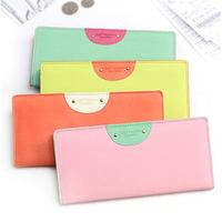 hasp multifunction wallet, lady wallet, women wallet, card case, hello happiness slim wallet