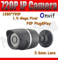 CCTV IP Camera 720P HD Support ONVIF IR Outdoor IP Network Camera with 24pcs IR Leds Night Vision 1.0 Megapixel POE optional