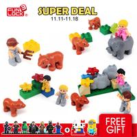 FUNLOCK Duplo zoo building block toy animal tree one set 35PCS Enlighten educational building block toy MF2047484951
