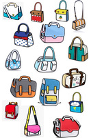 2014 new designed women and men 2d 3d cartoon handbag gismo shoulder bag carry in space messenger bag free shipping