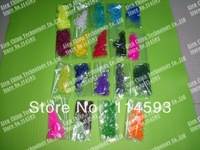 600Pcs/Bag Colorful Loom Rubber Bands Bracelet Refill Bag Contain S-Clip DIY RUBBER BANDS