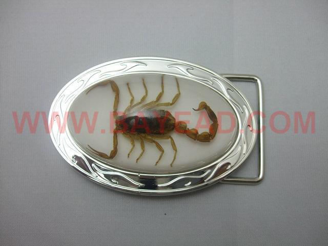 Real Brown Scorpion in Resin Belt Buckle Bug Belt Buckle Very Men Cool Gift Xmas Gift