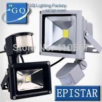 6PCS LED Flood Light  PIR Motion sensor Induction Sense 10W  20W 30W 50W 85-265V  detective Sensor lamp LED projector front lamp