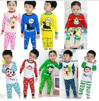 Freeshipping Children's Sleepwear Cotton Boys Pyjamas Girls Clothing Children's Clothes Baby Sets Monkey series kids pajama sets