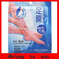 Free Shipping Bamboo Milk foot Mask socks for pedicure exfoliating socks for feet peeling Health Care Skin Feet Care
