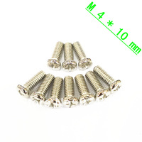 Free Shipping  100 pcs M4 Screw Diameter 4mm Length 10mm M4x10 Stainless Steel DIY New