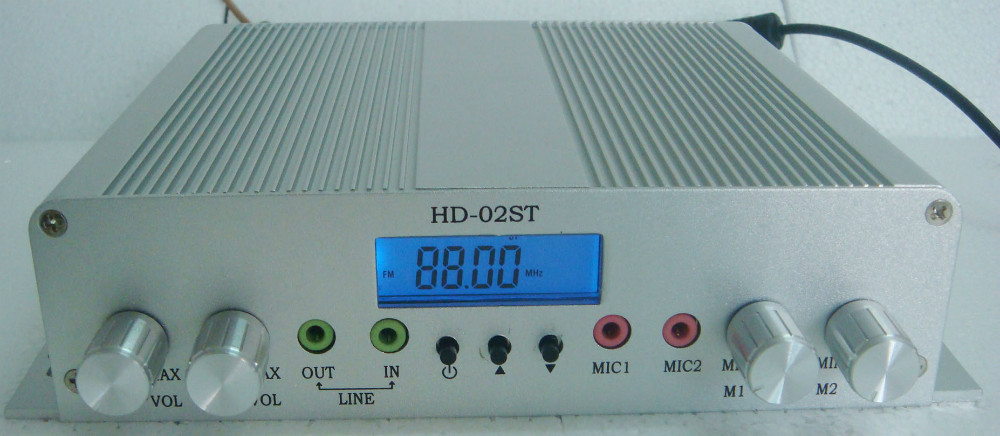 15W stereo PLL FM transmitter broadcast radio station 88-108MHZ free shipping only host(China (Mainland))