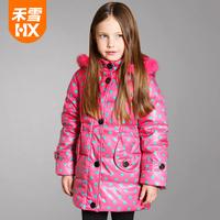 High quality, Children girl winter down coat, kids down jacket, child medium-long down coat outerwear,Y44