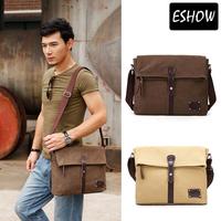 Eshow Vintage canvas shoulder bags men military bags men messenger bags BFK010511