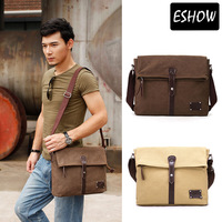 Eshow canvas shoulder bags for men Popular canvas bag mens messenger bags military bags BFK010511