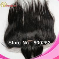 "Cheap Fashion 100% Brazilian Virgin Human Hair Lace Frontal Closures Piece With Bang 13""*4"""