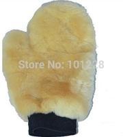 Free Shipping High Quality Fragment Genuine Sheepskin Wool Car Wash Mitt wash Glove