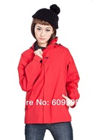 !2nd one only 30% off!Helly Hansen HH  women's outdoor Wind-Proof & Water-Proof double layer Windbreaker-only RED now=HwHH