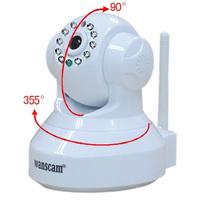 White Color JW0012 Mini CCTV camera WiFi WPA Network Webcam wireless camara IP Internet for home security Surveillance #209v