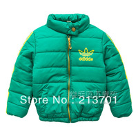 New 2013 Brand Winter Fashion Baby Boys Girls Hooded Thick Cotton Padded Warm Jackets Coats Kids Parkas Children Outerwear