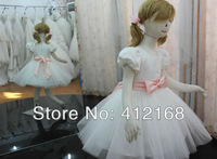 Pink Bow Flower Girl Dresses 2013 New For Prom Party Ball Wedding Pageant Princess Gowns Children's evening christmas