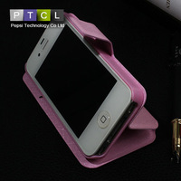 Silk For Apple iPhone 4 / 4S Luxury Vintage PU Leather Flip cover Phone Case Retro with Stand + Card Slot Drop Shipping