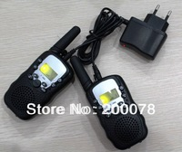 2014 New 99 code portable radio walkie talkie pair T388 twin talkabout handy talkie radios w/ led flashlight + t388 charger