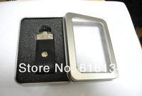 Free Shipping 8.5*5.5*1.7cm open window Metal Storage Boxes with sponge,Mint silver storage case, 50pcs/lot