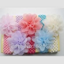 popular chiffon flower headband