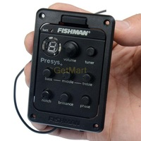 EMS Fishman 10pc/lot Presys-201, Fishman PRESYS+ Onboard Guitar Preamp/EQ w/Tuner, Sonicore Undersaddle Pickup