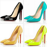 Hot sale fashion 5colors sex 8cm thin high heels shoes red bottom heels women pumps lady stiletto shoes free shipping
