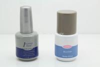 2*14ml 0.5oz (Topcoat+Base Gel) Nail Art Salon Care Intense Seal UV Dry and Primer Bonder Nail Gel Perfect Combination Set