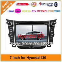 Car radio dvd gps aduio player For HYUNDAI I30 2012 7'' Car DVD with IPOD GPS TV Bluetooth player+3G USB Host +Free 4Gmap