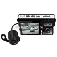 """Mini Size car camera car dvr x6 dual lens car dvr 2.0""""TFT 140 degree  wide angle lens With G-sensor"""