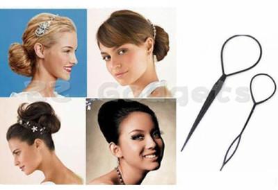 1+1 Magic Topsy Tail Hair Braid Ponytail Styling Maker Clip Tool Hair pin(China (Mainland))