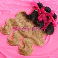 QNice Hair 4PCS Lot 6A Brazilian Virgin Hair Body Wave Unprocessed Virgin Brazilian Body Wave Ombre Hair Extension