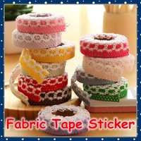 [FORREST SHOP] DIY Lace Fabric Tape / Kawaii Deco Tape / Scrapbooking Decoration Adhesive Stickers Tape (15 Pcs/Lot) FRS-152