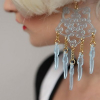 Laser Cut Acrylic Nightmare Catcher Earring
