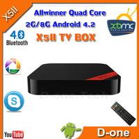 X5II RK3188 Quad Core Android 4.2.2 TV Dongle 2GB RAM 8GB ROM X5II XBMC Skype for android tv box bluetooth wifi HDMI tv stick