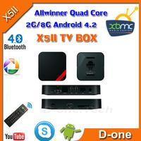 X5II Smart TV Box  Mini PC 1.6GHz 2G/8G Skype WiFi HDMI XBMC USB RJ45 OTG AV Out RK3188 2G/8G RK3188 Quad Core Smart TV stick