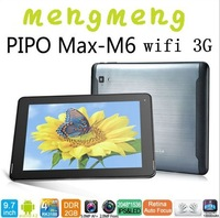 "9.7"" IPS Retina screen Pipo M6 pro 3G quad core RK3188 2GB/16GB android 4.2 dual camera Bluetooth 2048*1536 10points touch"