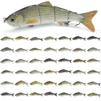 5 Per Lot Fishing Lure 4 Segment Swimbait Crankbait Hard Bait Fresh Water Shallow Water Bass Crappie Minnow Fishing Tackle HS4K