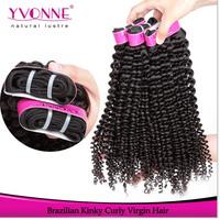 Hot Brazilian Kinky Curl Virgin Hair,100% Unprocessed Human Hair Extension,High Quality Aliexpress Yvonne Hair,8-24 Inches