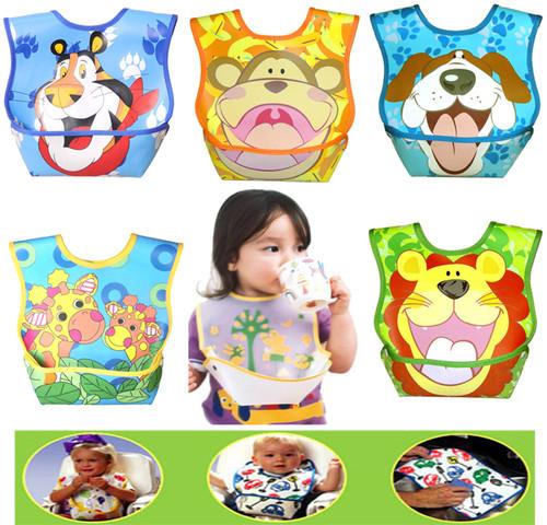 Baby Bibs Waterproof Baby 3D BIbs for feeding cartoon design EVA Baby Burp Cloths kid saliva towel Feeding Smock(China (Mainland))