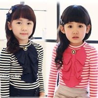 LEO FASHION spring and autumn winter children clothes child clothing  girls T Shirt free shipping T-290