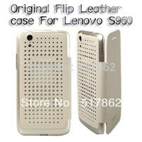 lastest arrived Original Lenovo VIBEX S960 Leather Case Khaqi In Stock Lenovo S960 Case Gift Screen Protector free shipping