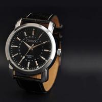 Hot Sale Brand men Leather Strap Men Casual Quartz Watch Wristwatch Clock Male Relogio Masculino reloj hombre Drop Shipping 023A