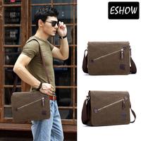 Mens Bag Canvas Shoulder Bag Vintage Brown Men Messenger Bags BFK1111