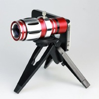 12.5x Zoom Telescope Phone Camera Lens Kit Tripod Case for Iphone 5s 5