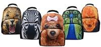VEEVAN New Arrival Designer Brand School Bags for Children Nylon Double Zipper  Animal Prints Computer/Leisure Backpack UFCBP001