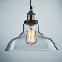 Vintage Industrial Edison Pendant Light E27 Copper Base Glass Lampshade Loft Coffee Bar Lamp Rustic Home Lighting