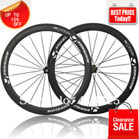 Christmas Sale  BONTRAGER bicycle wheels  carbon wheels50mm  clincher tubular  Novatec hub quick release spokes